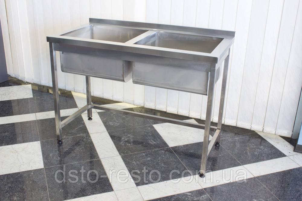Ванна моечная 2-х секционная 1200/600/850 мм