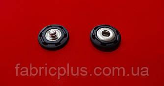Кнопка пришивная 20 мм  металл/пластик, черная