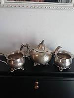 Английская посеребряная чайная посуда 19 век