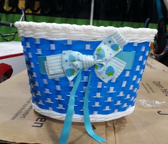 Корзина на дитячий велосипед пластикова колір синій