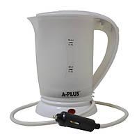 Чайник электрочайник автомобильный 12v A-plus 1518 White