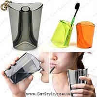 """Двухсторонняя чашка для воды и зубной щетки - """"Flip Cup"""", фото 1"""