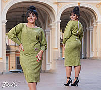 Костюм батал,джемпер +юбка (4 расцветки) А4685С41144, фото 1