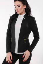 """Женскй красивый пиджак """"Jacqueline"""" черный (42-48)"""