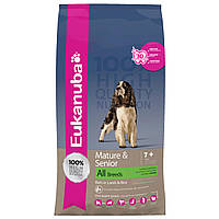 Корм для собак пожилого возраста Eukanuba Mature & Senior Lamb and Rice