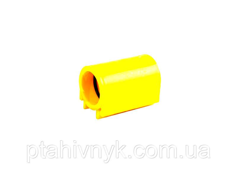 Соединительная пластиковая муфта для круглой трубы 27x27 мм