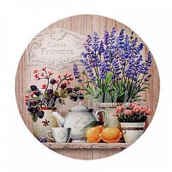 Деревянная круглая подставка под горячее «Ежевика», d-19 см (262-1118)