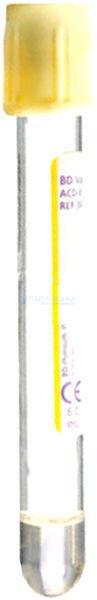 Стеклянные пробирки BD Vacutainer® с раствором ACD-Ф с лимонно-желтой резиновой крышкой, 8,5мл 16x100мм