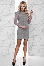 Женское деловое платье в клетку (Эммаjd), фото 3