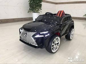 Детский электромобиль Джип M 3584 EBLR-2, Lexus, Кожа, EVA резина, Амортизаторы, чёрный