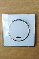 Выключатель одинарный с подсветкой белый Laura Right Hausen HN-015021