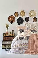 Набор постельное белье с пледом Karaca Home - Sandy blush 2019-1 евро