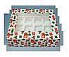 Коробка для 12 кексов 330х255х110 (с окошком и принтом подарок)