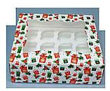Подарункова упаковка для 12 кексів 330х255х110 (з віконцем), фото 2
