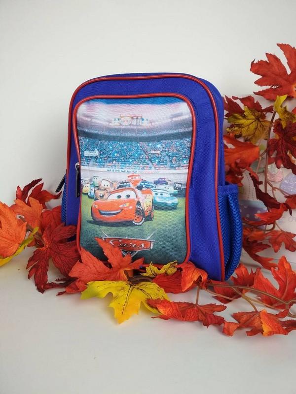 Рюкзак для мальчика с принтом Тачки 30*30*12 см