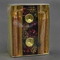 """Рождественский """"Подсвечник"""" С 22737 (192) в наборе свечи 2шт"""