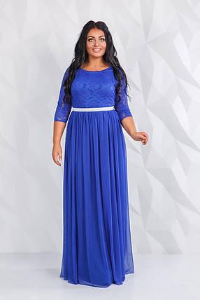 Платье нарядное  в пол БАТАЛ  04д 41.171, фото 2