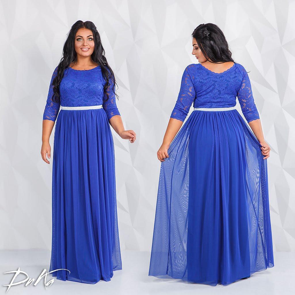 Платье нарядное  в пол БАТАЛ  04д 41.171