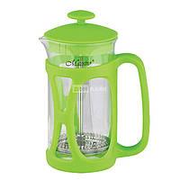 Заварник-пресс Maestro Green зеленый 800мл стекло (1663-800Green MR)