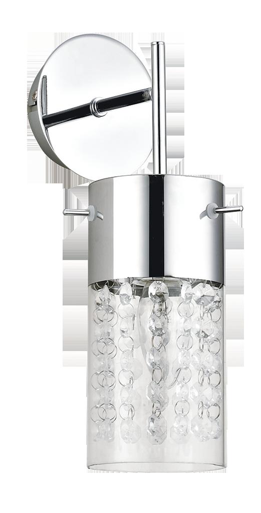 Бра Rabalux Waterfall 6449 1x40Вт E14 стекло/серебро
