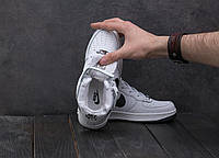 Кроссовки В 1806-4 (Nike AirMax 95) (зима, подростковые, кожа прессованая, белый)