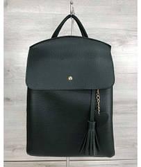 Молодежный сумка-рюкзак WeLassie Сердце зеленого цвета