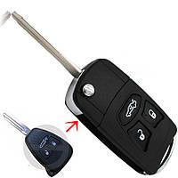Корпус выкидного ключа Chrysler 300с (для переделки) лезвие Н160, 3 кнопки