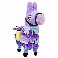 Мягкая игрушка фиолетовая Альпака Фортнайт  Llama Fortnite 25 см FT 63.01
