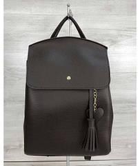 Молодежный сумка-рюкзак WeLassie Сердце шоколадного цвета