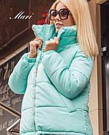Тёплая куртка с высоким воротником, комфортной длины