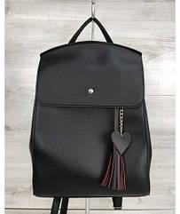 Молодежный сумка-рюкзак WeLassie Сердце черного цвета