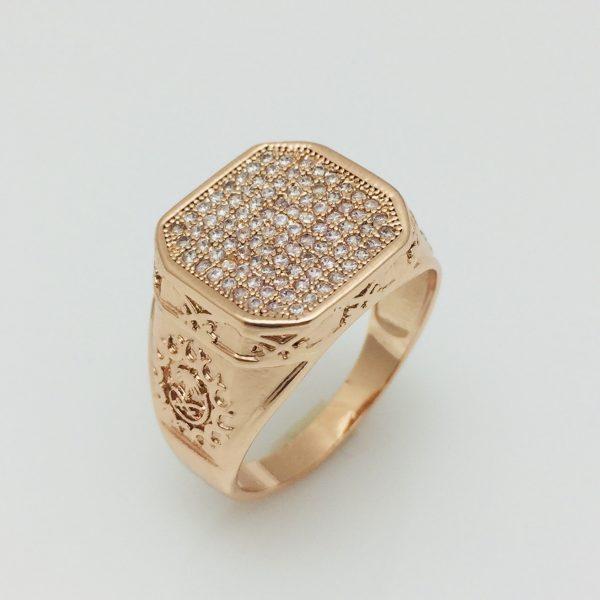 Перстень Fallon Мужской циркон, размер 19, 20, 21, 22