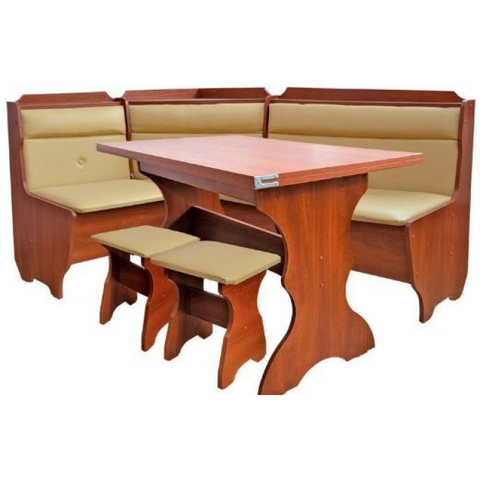 Кухонный уголок плюс стол с табуретами Кардинал Пехотин