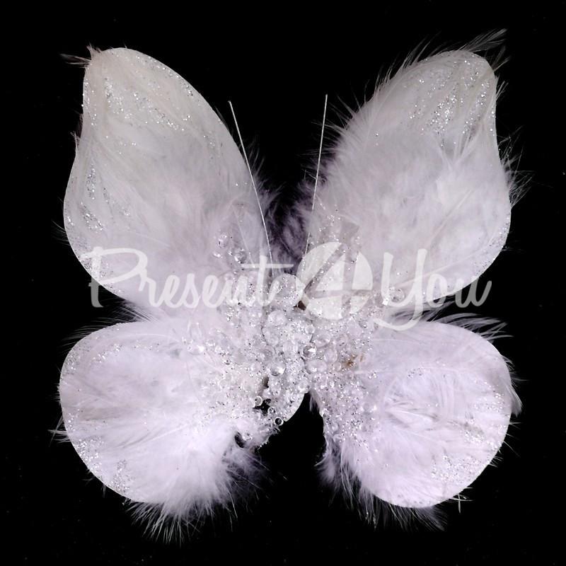 Декор Белая бабочка, 14х14 см.
