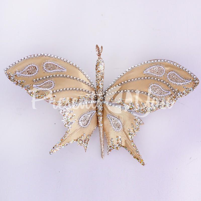 Декор Желтая бабочка, 40х23 см.
