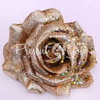 Декор золотая Роза, h-12 см.