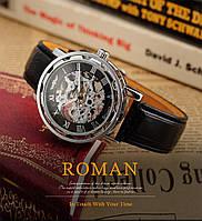 Механические наручные часы,скелетон, Winner Skeleton, м-003