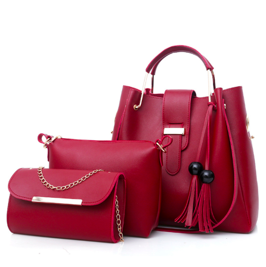 Женская сумка набор Melody Красная