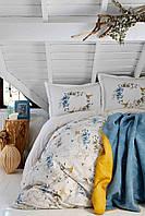 Набор постельное белье с покрывалом Karaca Home - Pabla mavi 2019-1 голубой евро