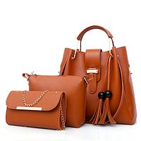 Женская сумка в наборе сумка через плечо Melody Коричневый, фото 1