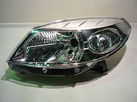 Фара левая (хром) Renault Sandero (Рено Сандеро) Оригинал-8200733878