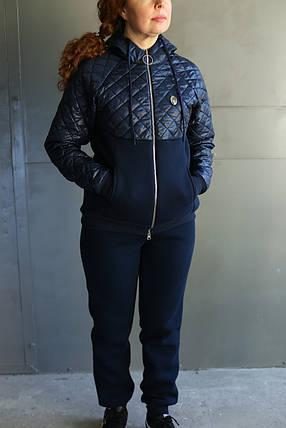 Женский зимний спортивный костюм комбинированный, фото 2