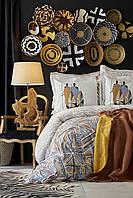 Набор постельное белье с покрывалом Karaca Home - Ruan kiremit 2019-1 кирпичный евро