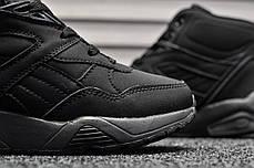 Женские зимние ботинки Puma Trinomic Black топ реплика, фото 3