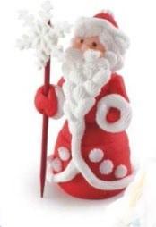 "Сахарная фигура ""Дед Мороз"" 7см Украса -01317"