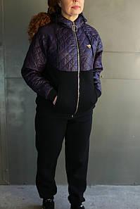 Женский зимний спортивный костюм комбинированный