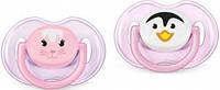 Пустышка cиликоновая ортодонтическая 0-6 мес. Кролик трумен  Philips Avent Classic Филипс Авент, 1 шт розовая