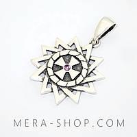Звезда Эрцгаммы с аметистом кулон из серебра