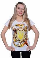 Жіноча футболка Я живу на своїй богом даній землі біла, фото 1