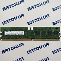 Оперативная память Samsung DDR2 1Gb 800MHz PC2 6400U CL6 (M378T2863QZS-CF7) Б/У, фото 1